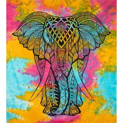 Narzuta Duży słoń - w jasnych kolorach
