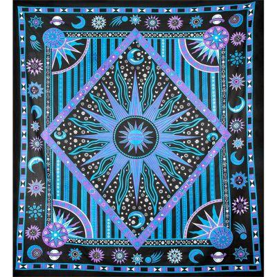 Plaid Universe - fioletowo-niebieski
