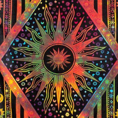 Bawełniana narzuta Universe - jasna kolorystyka 1 India
