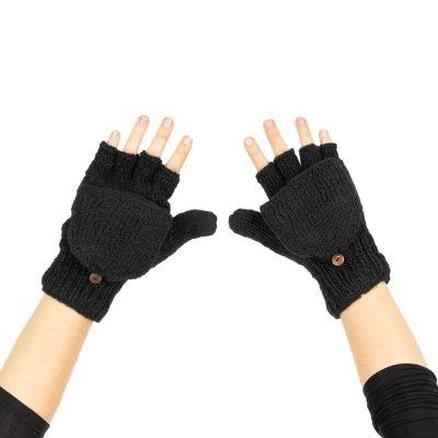 Rękawice wełniane Butwal Black