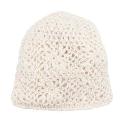 Wełniana czapka Bardia Flake na szydełku | czapka, komplet czapek i opasek, zestaw czapek, opasek na ramię i opaski