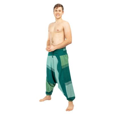 Spodnie haremowe Telur Green Nepal