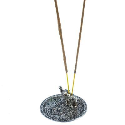 Metalowy stojak na kadzidełka Elephant