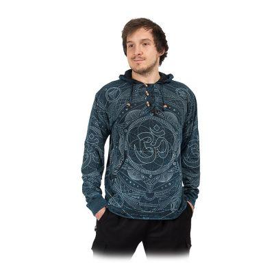 Męska trykotowa bluza z kapturem Baskar Biru | S, M, L, XL, XXL, XXXL