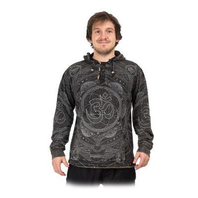Męska trykotowa bluza z kapturem Baskar Hitam | S, M, L, XL, XXL, XXXL