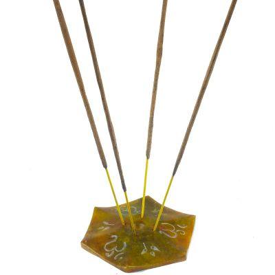 Stojak na kadzidełka Óm - żółty