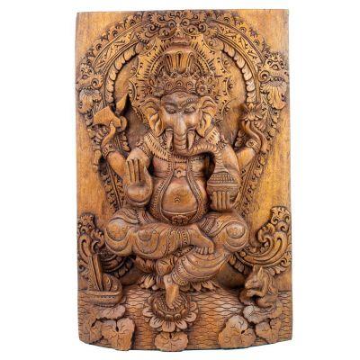 Rzeźba w drewnie autorstwa Ganesha