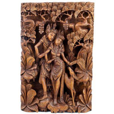 Rzeźba w drewnie Ramy, Sito i złotej jelenia Maricha