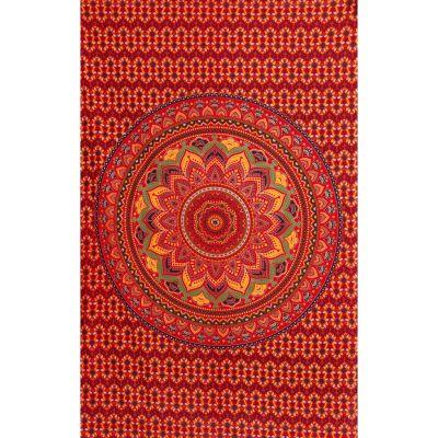 Bawełniana narzuta Mandala lotosowa – płomienny
