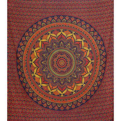 Bawełniana narzuta Mandala lotosowa – duży