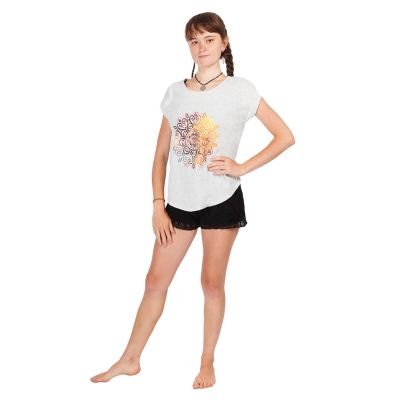 Damska koszulka Darika Mandala Greyish z krótkim rękawem   UNI