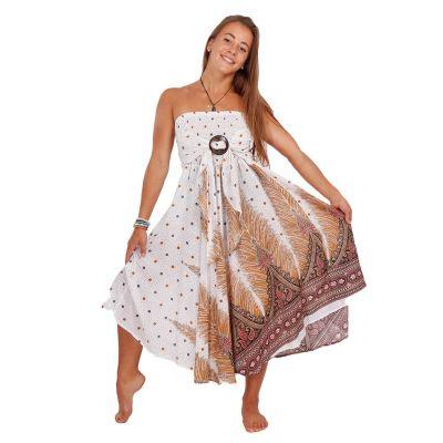 Długa spódnica z kokosową klamrą Kelapa Zahra   UNI