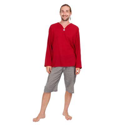Kurta Abiral Burgundy - męska koszula z długimi rękawami | M, L, XL, XXL