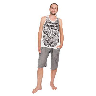 Męska koszulka bez rękawów Sure Khon Mask White | M, L, XL, XXL