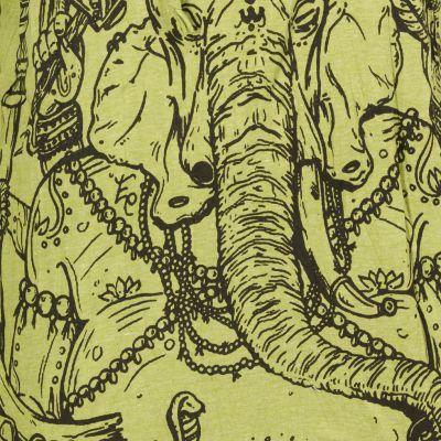 Koszulka Sure z kapturem Angry Ganesh Green Thailand