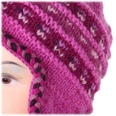 Annapurna Różowa wełniana czapka