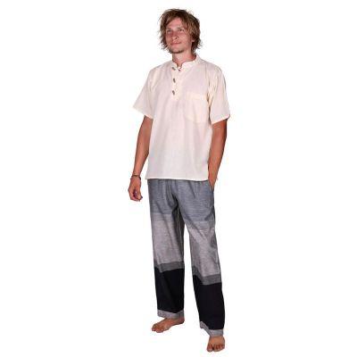 Kurta Pendek Putih - męska koszula z krótkim rękawem | S, M, L, XL, XXL, XXXL