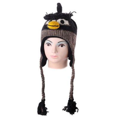 Wełniana czapka Angry Bird - czarna   M, L