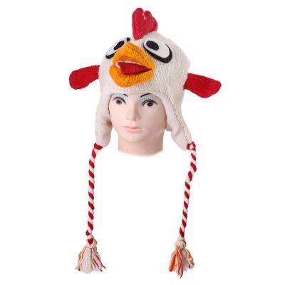 Wełniana czapka Angry Bird - biała   L