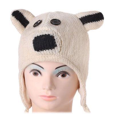 Wełniana czapka Niedźwiedź polarny   M, L