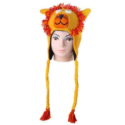 Wełniana czapka Lion - żółta   M, L