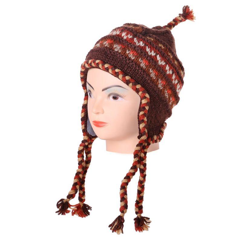 Wełniana czapka Annapurna Brown