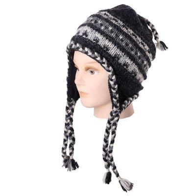 Annapurna Czarna wełniana czapka