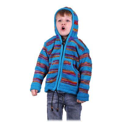Wełniany sweter w kolorze turkusowym Stream