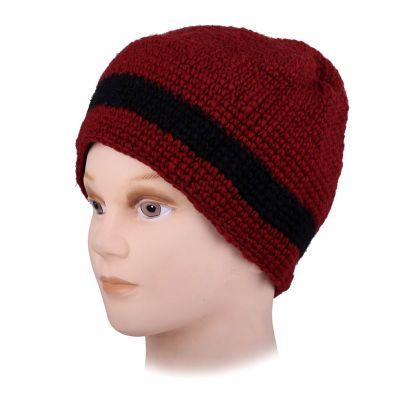 Wełniana czapka Datar Black Stripe