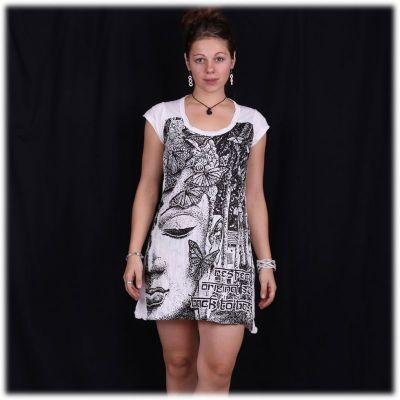Sukienka (tunika) Jasne motyle Buddy w kolorze białym   S, M, L, XL