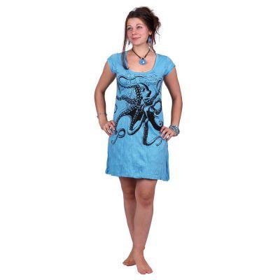 Jasna sukienka Octopus Blue