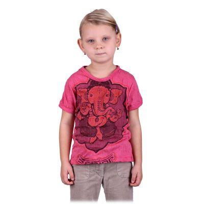 Jasne, różowa koszulka Ganesh