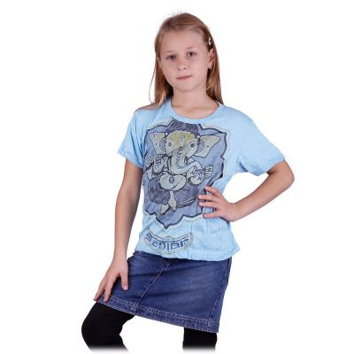 Jasne, niebieska koszulka Ganesh | M