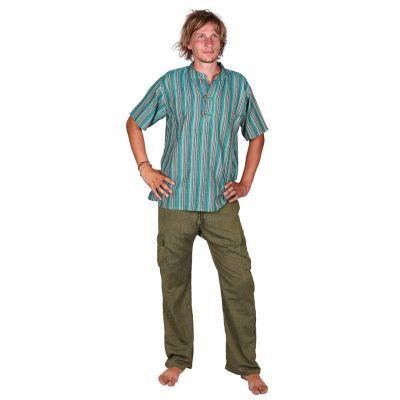 Męskie bawełniane spodnie Saku Hijau | S, L, XL, XXL, XXXL