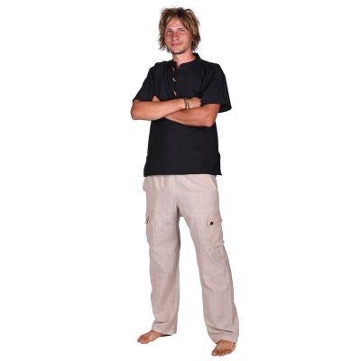 Męskie bawełniane spodnie Saku Putih | S