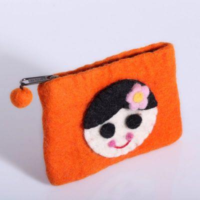 Torba z dziewczyną pomarańczowa