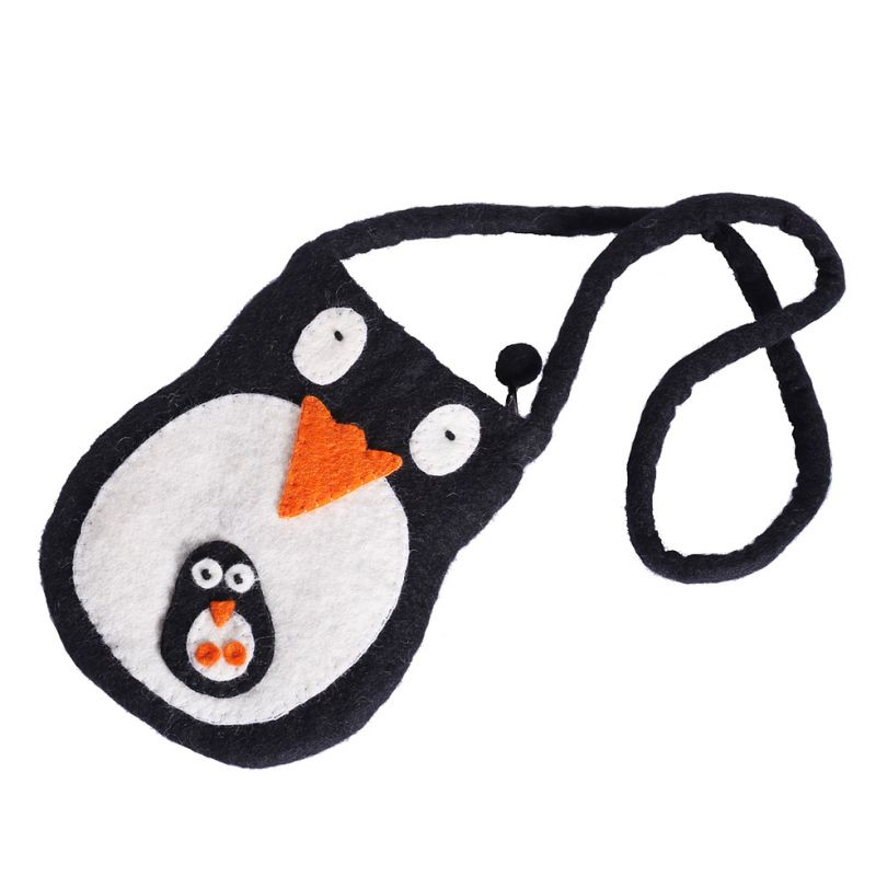 Filcowa torebka z pingwinem