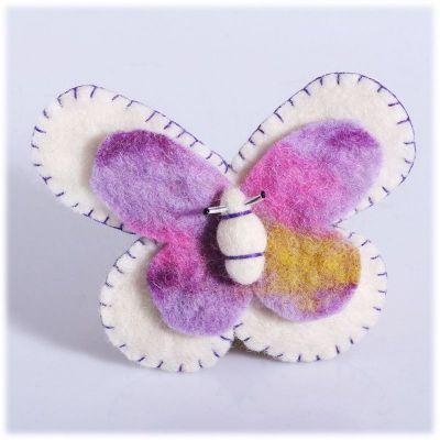 Broszka Motyl Biała