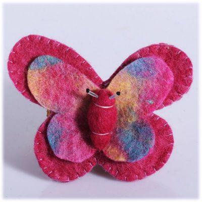 Broszka Butterfly Pink