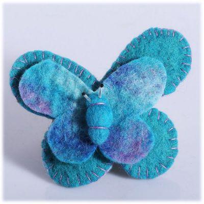 Broszka Motyl Turkusowy