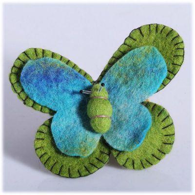 Broszka Motyl Zielono-turkusowa