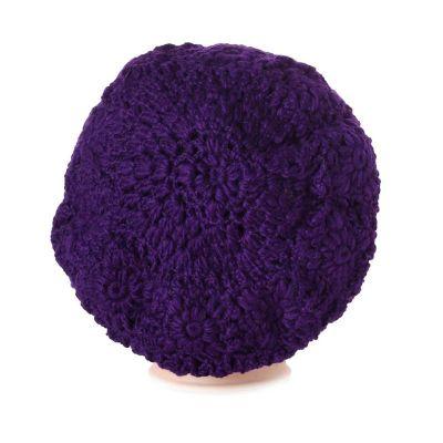 Szydełkowy beret Laras Purple