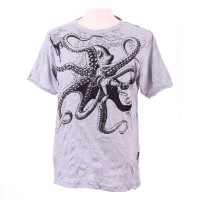 T-shirt męski Sure Octopus Attack Szary