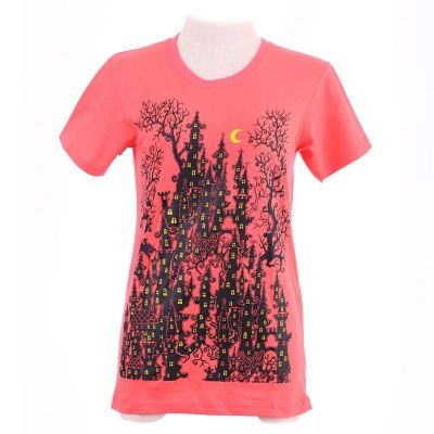 Różowa koszulka Haunted Castle