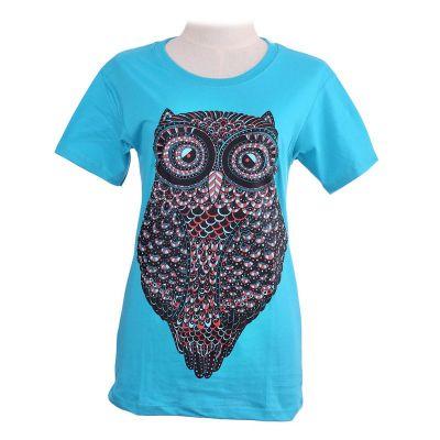 Turkusowa koszulka Big Owl