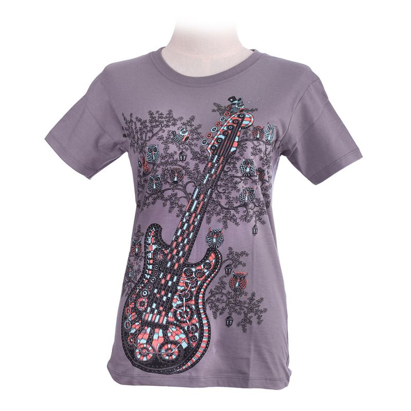T-shirt damski Guitar Grey