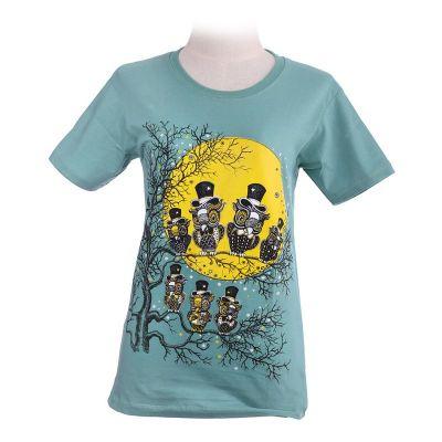 T-shirt Full Moon Green
