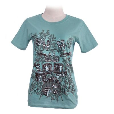 Koszulka T-shirt Drum Set Green