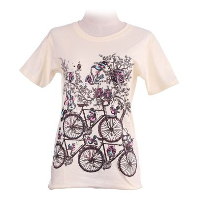 Koszulka Rowery Jasnożółta