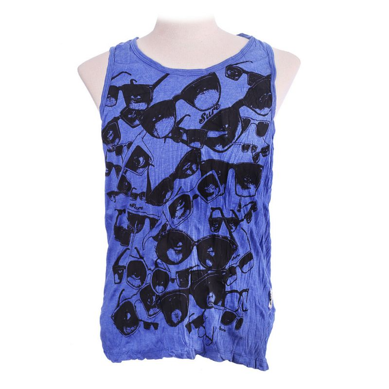 Męska koszulka bez rękawów Sure Sunglasses Blue